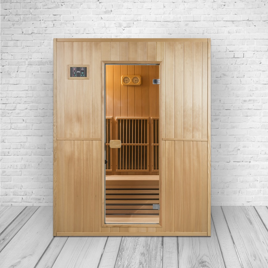 infrarot sauna kreta ii kombination aus infrarotkabine. Black Bedroom Furniture Sets. Home Design Ideas